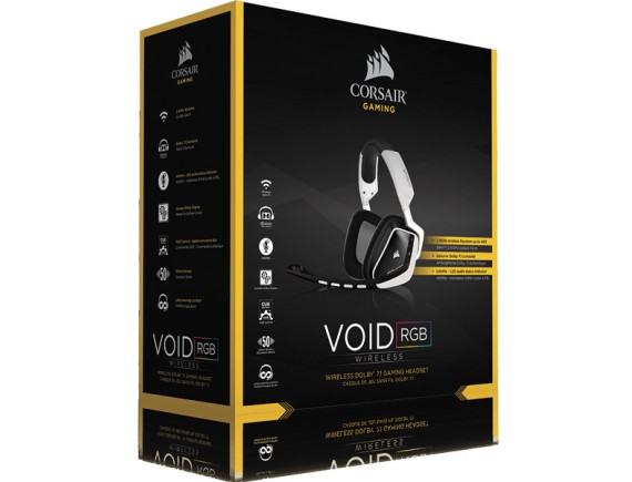 Corsair Gaming Headset Wireless Void 7.1 Dolby - White