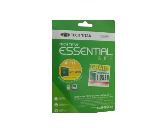 Kaspersky  Anti Virus Tech Titan Essential Suiet  - 1 User