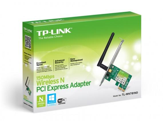 TPLink PCI-E Card Wireless N150 Mbpx WN-781ND