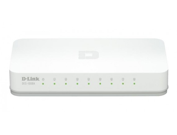 D-Link Switch Hub 8 Port - Cover Plastik
