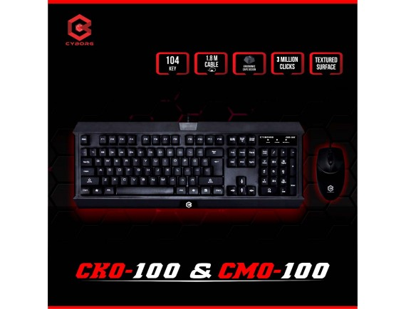 Cyborg Keyboard CKO-100 + Mouse CKO-100 Office