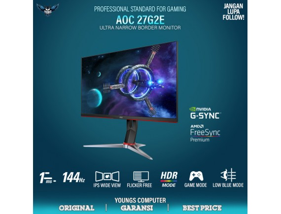 "AOC 27G2E 27"" IPS 1ms 144Hz Gaming Monitor"
