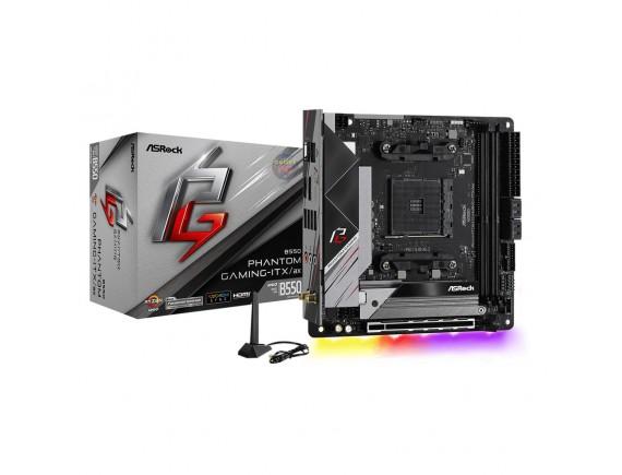 ASRock B550 Phantom Gaming ITX/ax (AMD AM4, B550, DDR4) - Motherboard