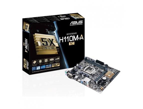 Asus Motherboard H110M-A M.2 CSM - LGA 1151 - DDR4