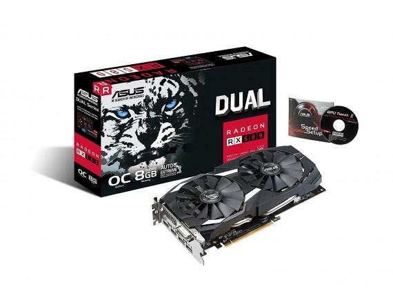 Asus VGA Card RX580 Dual OC 8GB DDR5 256bit