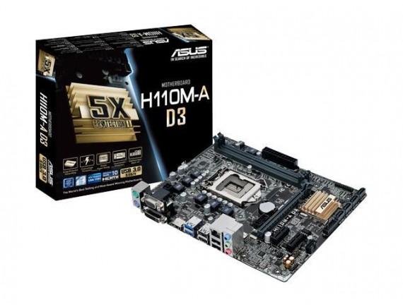 Asus Motherboard  H110M-A D3 LGA 1151
