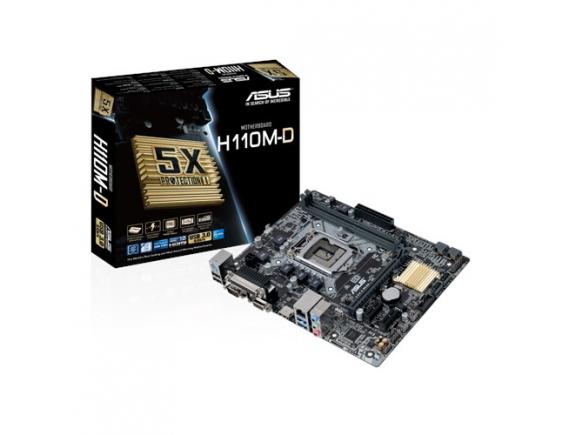 Asus Motherboard H110M-D Socket 1151 DDR4
