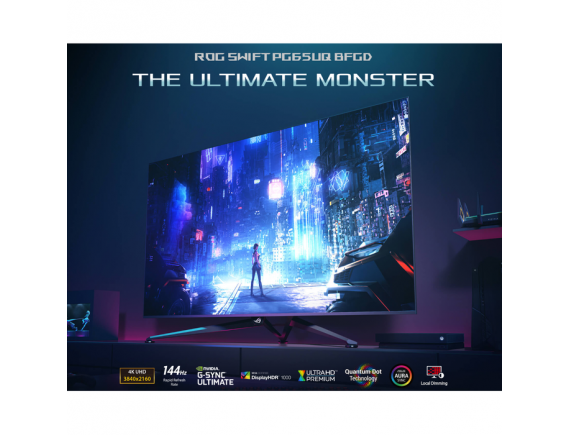 "ASUS ROG Swift PG65UQ 65"" Monitor 4K 144Hz 1ms G-SYNC Ultimate"