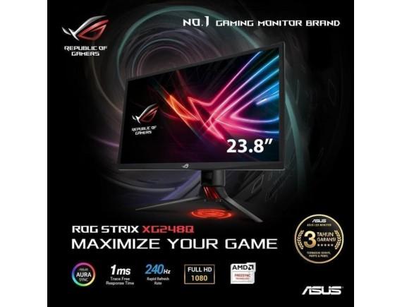 "ASUS ROG Strix XG248Q 24"" 240Hz 1ms G-Sync Compatible Gaming Monitor"