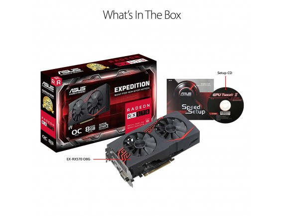 Asus VGA Card Expedition Radeon RX570 OC 4GB GDDR5