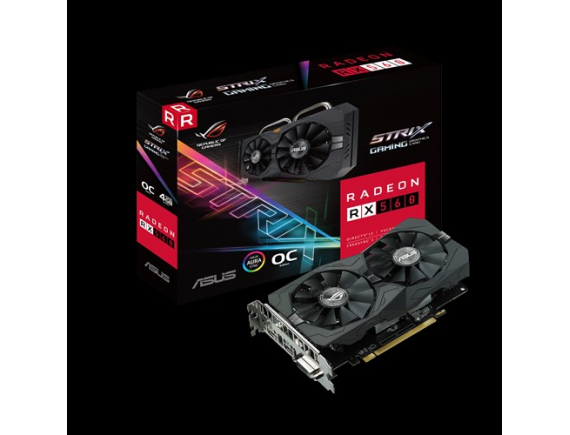 Asus VGA Card RX560 Strix 4GB DDR5 256bit EVO GAMING