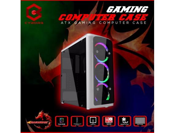 Cyborg Casing Dragon Wars With 3pcs Rainbow Fan 12