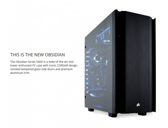 Corsair Casing Obsidian 500D Tempered Glass