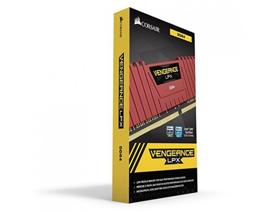 Corsair Vengeance LPX 16GB 2 x 8GB DDR4 2666MHz C16 Memory Kit - Red