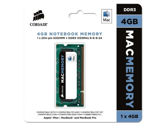 Corsair Sodimm DDR3 For Mac Apple 4GB (1 X 4GB) 1333Mhz C9