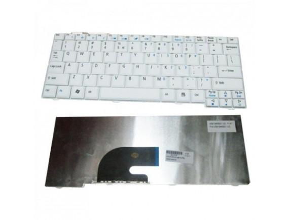 Keyboard Acer Aspire One AO751h (White), 751 ZA3, ZA3, 751, ZA5. Aspire 3935, 3936