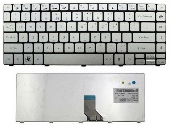 Keyboard Acer TravelMate 8481 8481G 8481T 8481TG US silver