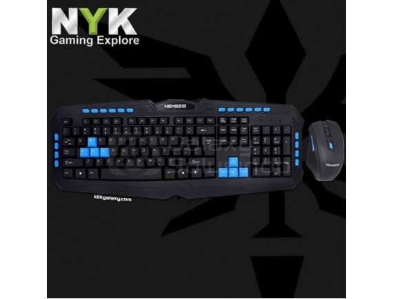NYK Gaming Keyboard Mouse Wireless WS500