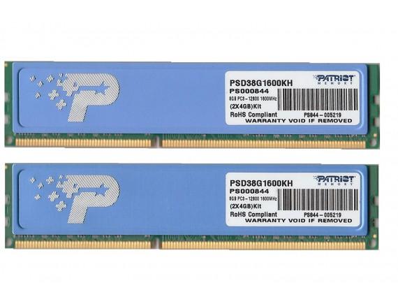 Patriot PSD38G1600KH 2x4GB DDR3 1600Mhz