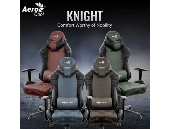 Aerocool Knight - Aerosuede Gaming Chair - Iron Black