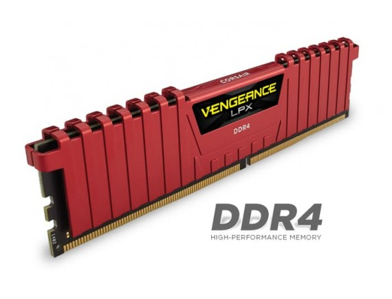 Corsair DDR4 Vengeance LPX 1x4GB RED 2400Mhz