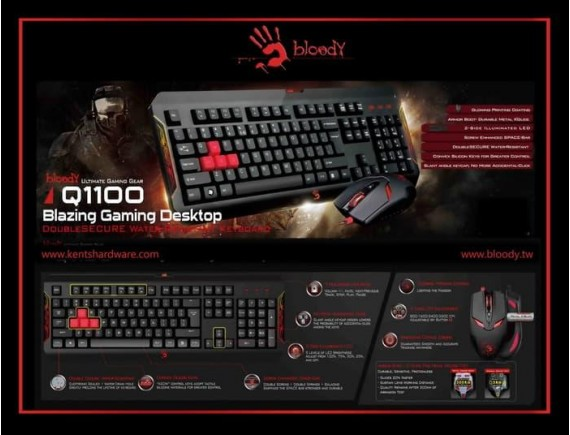 Keyboard + Mouse Gaming Bloody Q1100