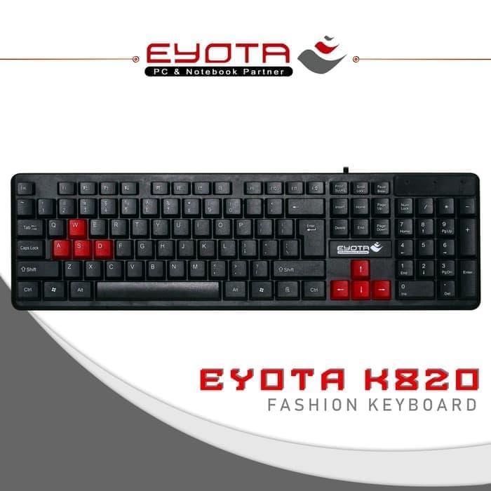 Keyboard USB Eyota K820 Fashion PC dan Laptop